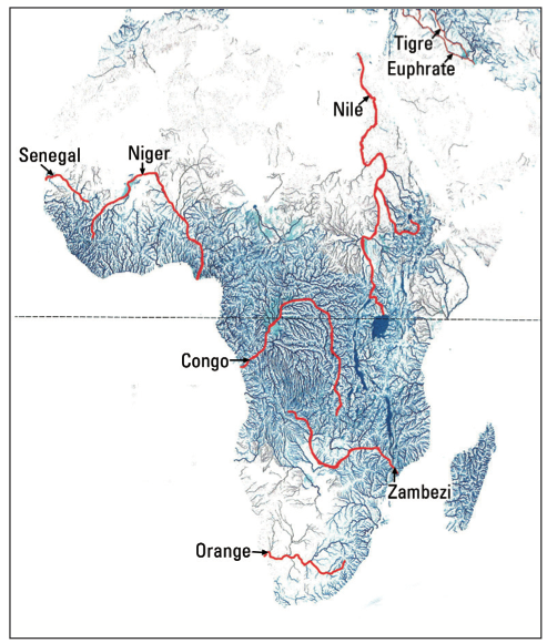 Map Africa Rivers | Jackenjuul